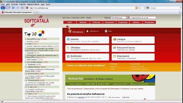 Connecta'l al valencià : Programari lliure i recursos web