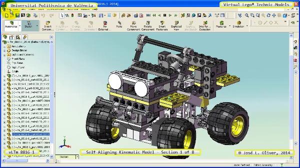 Simulación Cinemática Lego Technic 8816-1 con Cosmos Motion ¿ 1 de 8
