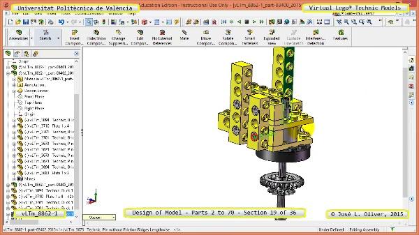 Creación Virtual Modelo Lego Technic 8862-1 ¿ Piezas 2 a 70 ¿ 19 de 36