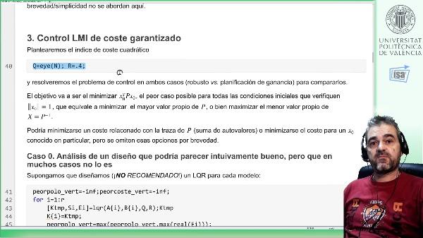 Control robusto y por planificación de ganancia en un sistema de 8 vértices: ejemplo Matlab