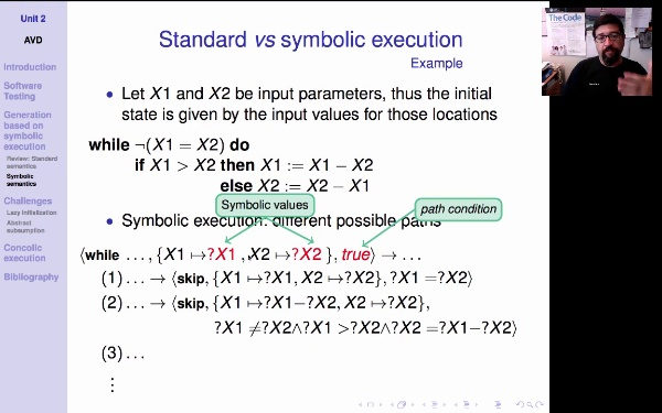AVD. Unit 2. Symbolic execution (2)