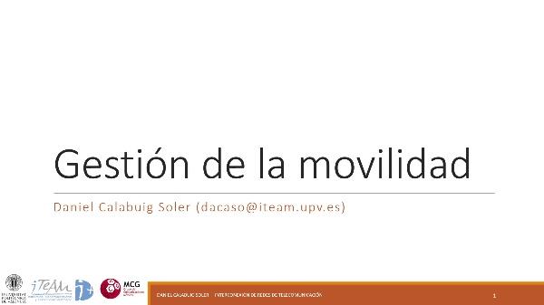 IRT - Redes 3GPP 07 - Movilidad