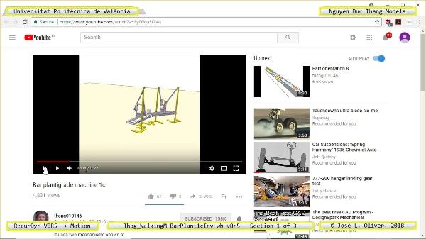 Simulación Cinemática Thag_WalkingM-BarPlant1cInv-wb-v8r5 con Recurdyn - LegTa - 1 de 3