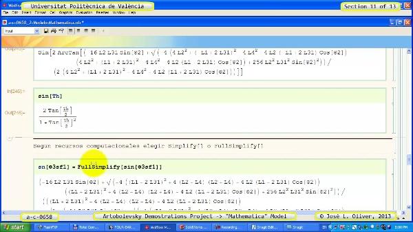 Solución Cinemática Simbólica a_c_0658 con Mathematica -B- 11 de 13