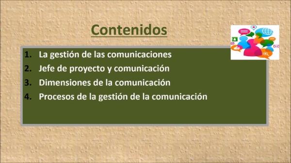 (Gestión de proyectos) Tema 5: Las Comunicaciones