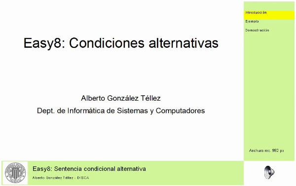 Easy 8: condiciones alternativas