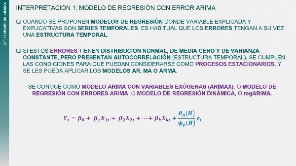 Lo más relavente: Modelos ARIMAX