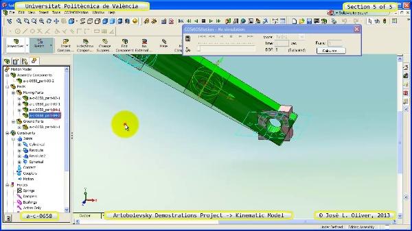 Simulación Mecanismo a_c_0658 con Cosmos Motion - 5 de 5