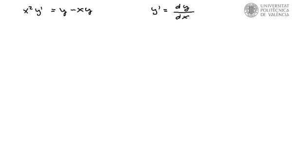 Resolución de Ecuación diferencial de variables separables