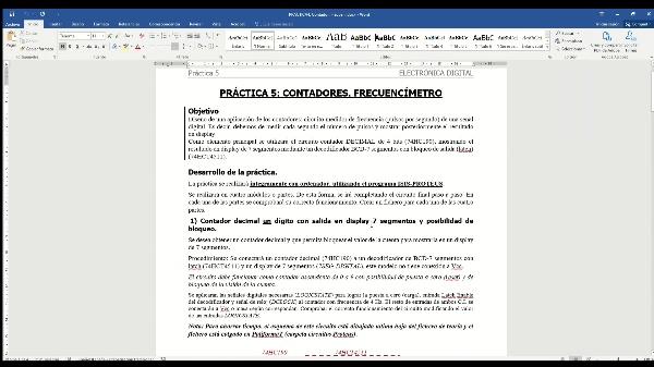 Electrónica Digital. Práctica 4. Desarrollo de un frecuencímetro.