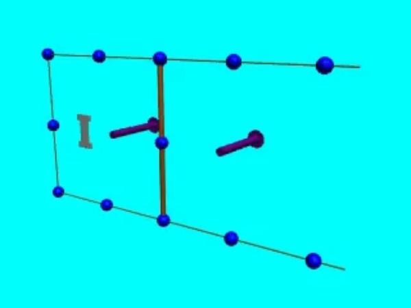 Inducción_2: Corriente inducida en una espira rectangular cuando, al variar la superficie que encierra, varía el flujo del campo magnético a través de esta