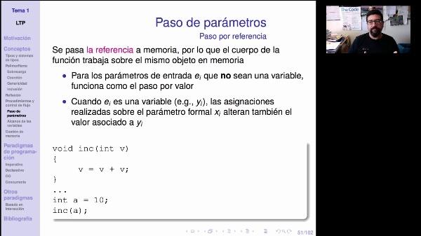 LTP. Tema 1.2.4.1. Paso de parámetros