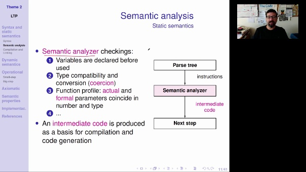 LTP - Unit 2 - Semantics in programming languages