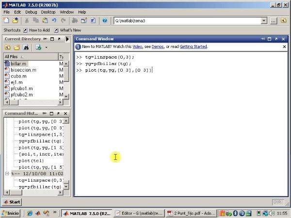 Tema 3. F(x)=0. El método de punto fijo. Ejercicio.
