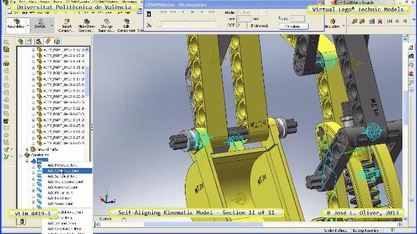 Simulación Cinemática Lego Technic 8419-1 con Cosmos Motion ¿ 11 de 11 - no audio