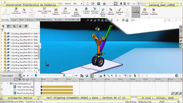 Simulación Dinámica de Tren de Aterrizaje con Solidworks Motion v2017 - 06 de 12
