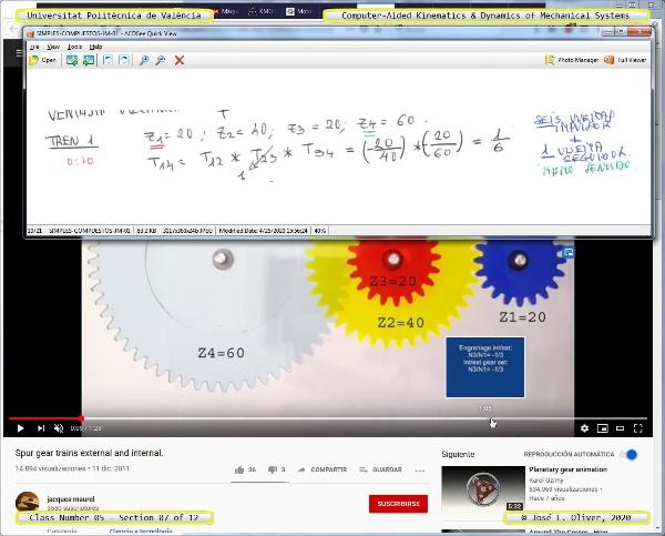 Mecánica y Teoría de Mecanismos ¿ 2020 ¿ MM - Clase 05 ¿ Tramo 07 de 12