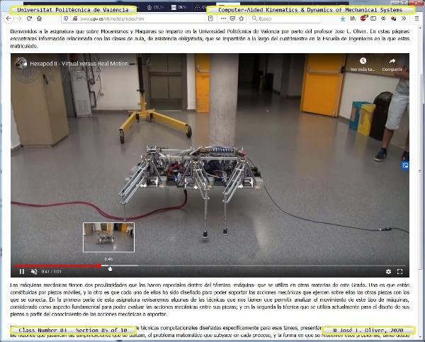 Mecánica y Teoría de Mecanismos ¿ 2020 ¿ MM - Clase 03 ¿ Tramo 05 de 10