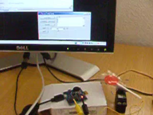 CheapDAQ Silabs C8051F342 manejando un servo