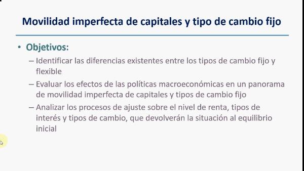 El modelo IS-LM con movilidad imperfecta de capitales y tipo de cambio fijo