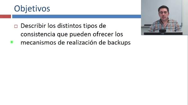 Tipos de consistencia de backups