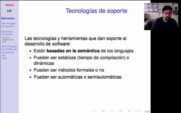 LTP. Tema 5. Motivación. Tecnologías de soporte