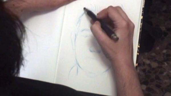 Video docente - Cómo realizar retratos utilizando rotuladores al agua