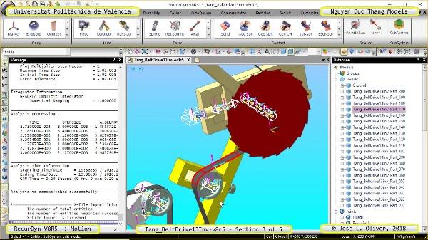 Simulación Cinemática Tang_BeltDrive13Inv-v8r5 con Recurdyn - RotaT - 3 de 5