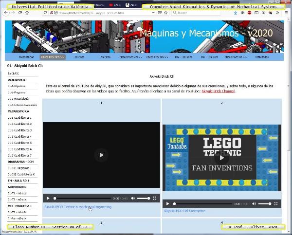 Mecánica y Teoría de Mecanismos ¿ 2020 ¿ MM - Clase 01 ¿ Tramo 08 de 12