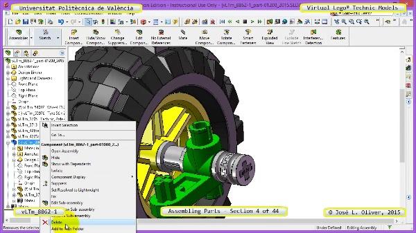 Creación Virtual Modelo Lego Technic 8862-1 ¿ Montaje Modelo ¿ 04 de 44