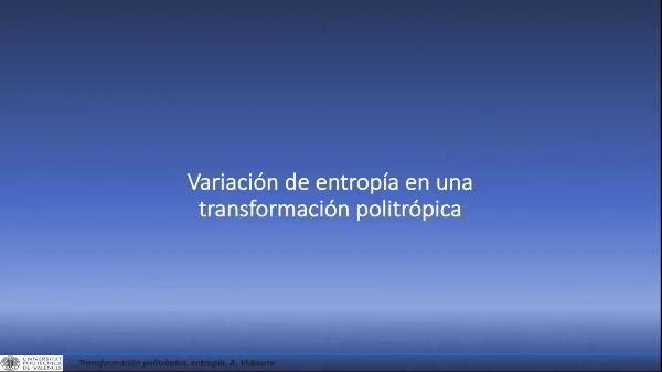 Variación de entropía en una transformación politrópica