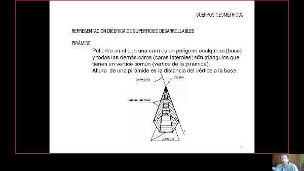 Geometría descriptiva. Pirámides