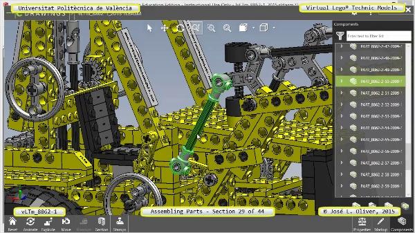 Creación Virtual Modelo Lego Technic 8862-1 ¿ Montaje Modelo ¿ 29 de 44