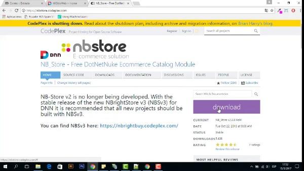 GCD - Instalación tienda NBstore en Dotnetnuke
