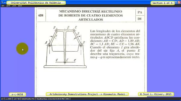Simulación Mecanismo a_c_0658 con Cosmos Motion - 1 de 5