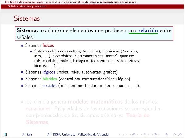 señales y sistemas: clasificación teórica