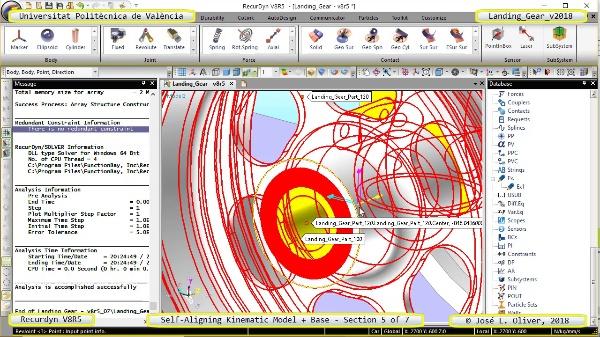 Simulación Dinámica de Tren de Aterrizaje con Recurdyn V8R5 - 5 de 7