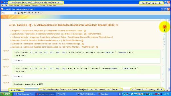 Solución Cinemática Simbólica a_c_0683 con Mathematica -B- 6 de 6