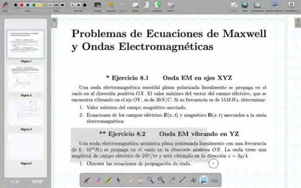 Ecuaciones de Maxwell y onda electromagnética - Problemas - Bloque 3 - Tema 3.1