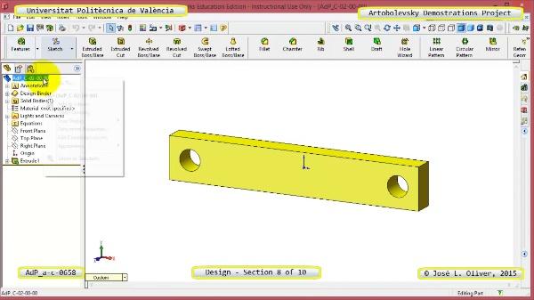Creación Virtual Mecanismo a-c-0658 con Solidworks - 08 de 10