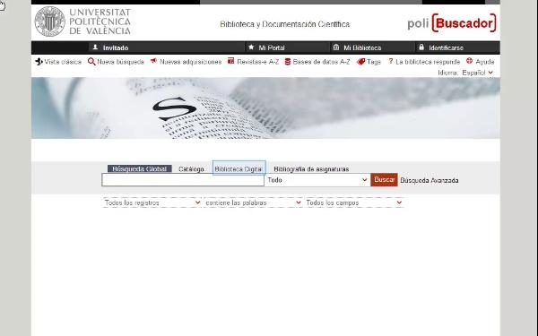 Recursos Web en Polibuscador