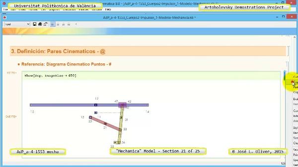Simulación Mecanismo a-4-1553 con Mechanica - 21 de 25 - Modelo Mechanica