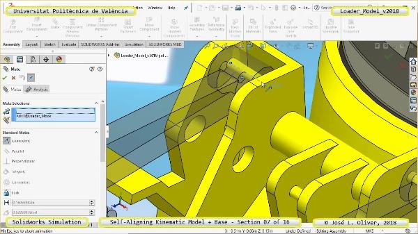 Simulación Dinámica de Cargadora Volvo L70C con Solidworks Motion v2017 - 07 de 16