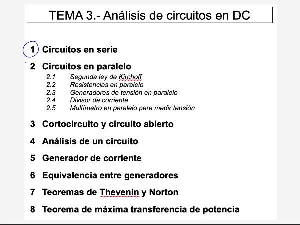 Teoría de Circuitos 1. Lección 3. 2.2.a.1 Resistencias en paralelo