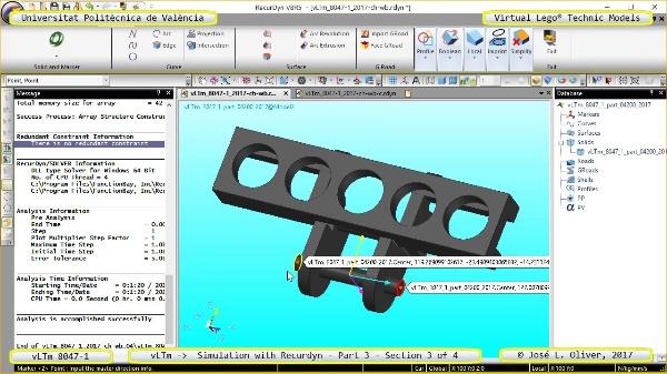 Simulación Cinemática Lego Technic 8047-1 con Recurdyn - Parte 3 ¿ 3 de 4