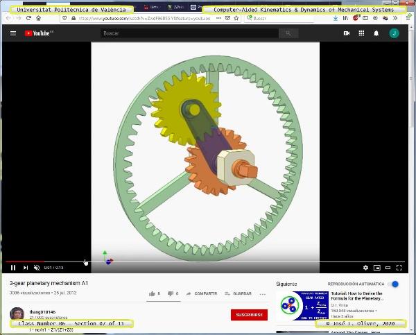 Mecánica y Teoría de Mecanismos ¿ 2020 ¿ MM - Clase 06 ¿ Tramo 07 de 11
