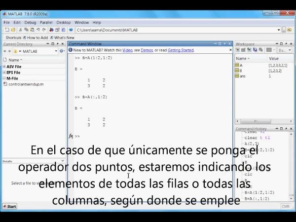 Tutorial Matlab 2. Matrices