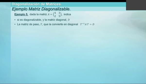M1-ELE-64 Diagonalizacion ejemplo 5