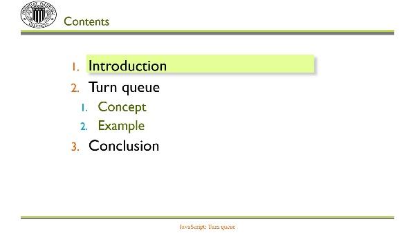 JavaScript: Turn queue