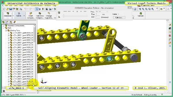 Simulación Cinemática Modelo Lego Technic 8862-1 -Cargador- 12 de 19